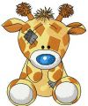 Twiggy Giraffe 2 embroidery design