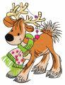 Deer's date 3 embroidery design
