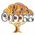Coffee tree embroidery design