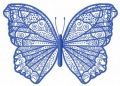 Night blue butterfly 2 embroidery design
