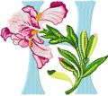 Iris Letter H  embroidery design