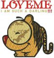 Love me: I'm such a darling embroidery design