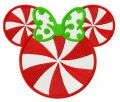 Minnie candy embroidery design