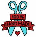 100% handmade 2 embroidery design