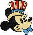 Mickey Mouse patriotic 5 embroidery design