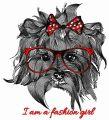 I'm a fashion girl embroidery design