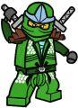 LEGO Ninjago Green Ninja Lloyd ZX  embroidery design