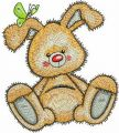 Cute bunny toy embroidery design