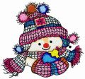 Even snowman likes knitted hats embroidery design