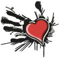 Heart in the palm of your hand 2 embroidery design