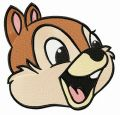Chipmunk Chip embroidery design