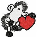Sheepworld Sheep with Heart embroidery design