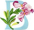Iris Letter B embroidery design