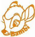 Disney character Bambi embroidery design