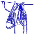 Wet gumshoes 2 embroidery design