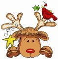 Sad Christmas deer 2 embroidery design