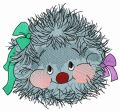 Hedgehog girl embroidery design