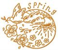 Spring 2 embroidery design