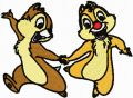 Chip & Dale 4  embroidery design