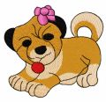 Small dog embroidery design