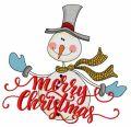 Ruddy snowman 2 embroidery design