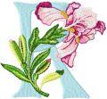 Iris Letter R embroidery design
