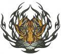 Tiger badge embroidery design