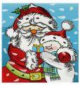Santa and snowman embroidery design