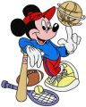 Mickey Mouse Baseball embroidery design