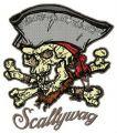 Scallywag embroidery design