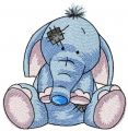 My cute elephant embroidery design