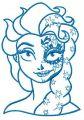 Strange Elsa 3 embroidery design