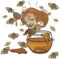Honey fairy embroidery design