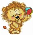 Lion's beach ball embroidery design