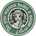 Do you wanna build a snowman? embroidery design