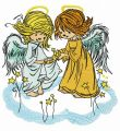Stars for angels embroidery design