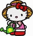 Hello Kitty Gardener 1 embroidery design
