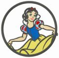 Snow White's curtsy embroidery design