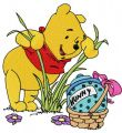 Winnie Pooh found pot embroidery design
