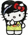 Modern Hello Kitty 1  embroidery design
