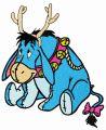 Eeyore with deer horns embroidery design