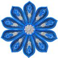 Blue flower free decoration embroidery design