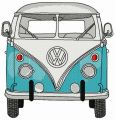 Volkswagen Van embroidery design
