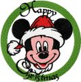 Christmas Mickey Mouse 3 embroidery design