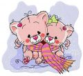 Kitten sisters embroidery design
