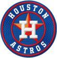 Houston Astros logo embroidery design