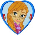 Frozen heart frame  embroidery design