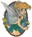 Scared Tinkerbell 2 embroidery design