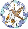 Loving birds 2 embroidery design