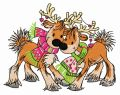 Deer's date embroidery design